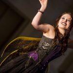 Purple and black steampunk fairy corset