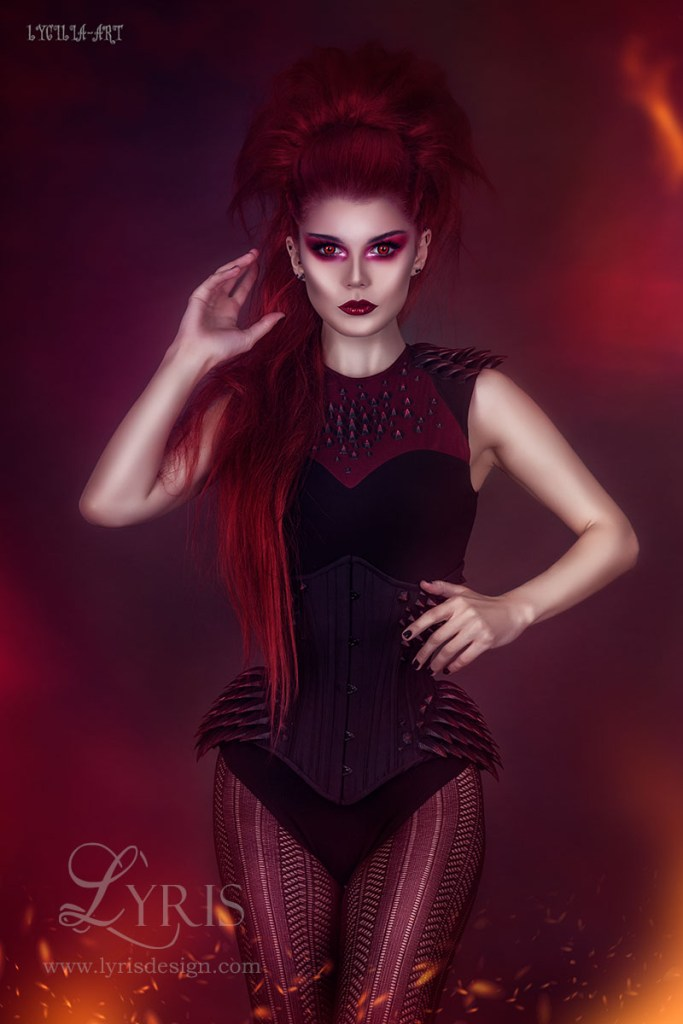 3D printed spike corset