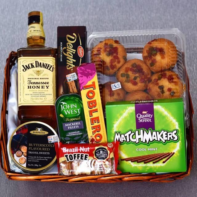 PurPink Christmas gift basket
