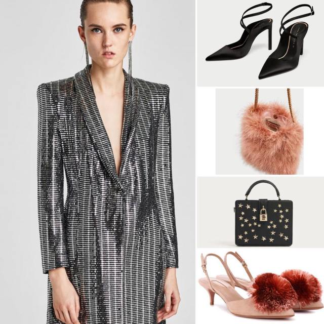 How to pair a sequin dress for Christmas