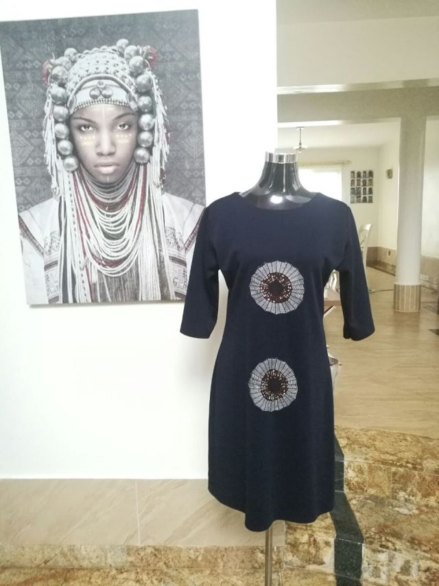 Voilà Apparel modern African print dress