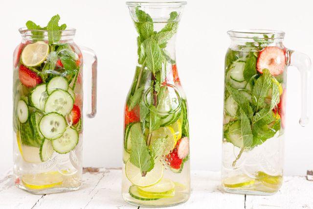 Lemon, Strawberry, Cucumber, Mint