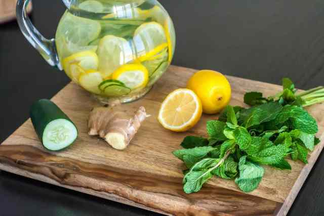 Cucumber, Mint, Lemon, Ginger