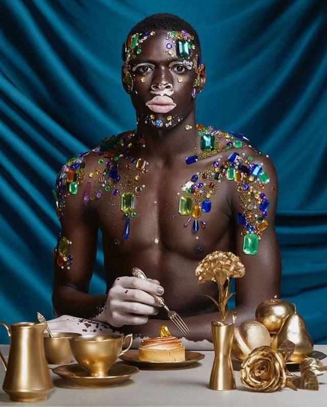 Vitiligo Is Art | Understand It And See Its Beauty - Lysa Magazine what is vitiligo, what causes vitiligo, cure for vitiligo Moostapha model with vitiligo
