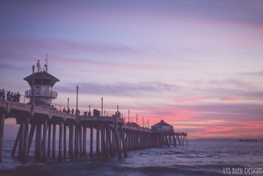huntington beach sunset pier california 2