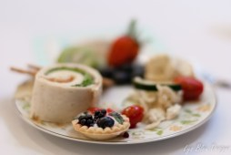 food photography - picture of food - plate of food - fruit tart - appetizers - party food - shallow depth of field