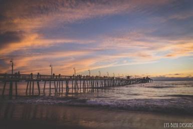 imperial beach pier sunset