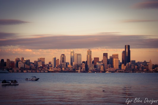 seattle photos - seattle pictures - seattle images - seattle skyline - sunset photos - alki beach - ocean - bay