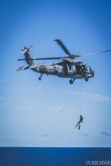 navy photos - photo of helicopter - navy diver - ocean - nautical photos