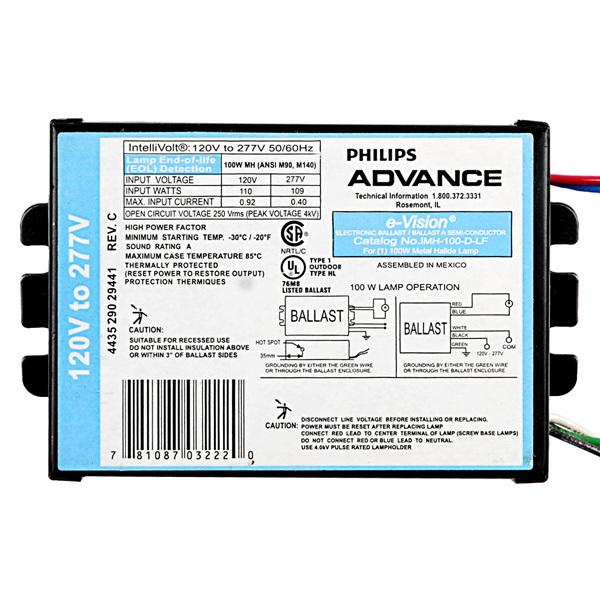 Advance IMH39GLF Metal Halide Ballast