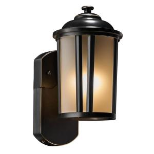 Traditional Companion Smart Security Oil Rubbed Bronze Metal and Glass Outdoor Light Fixture