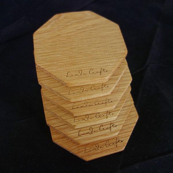 ξύλινο σουβέρ εξάγωνο