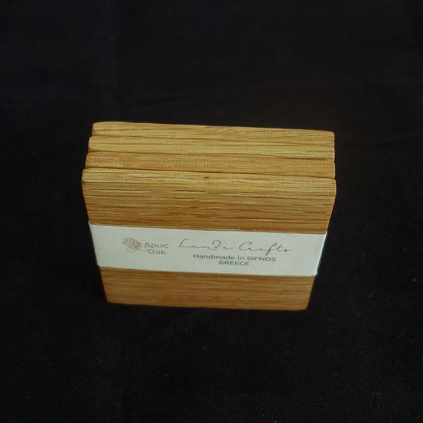 ξύλινο σουβέρ τετράγωνο σετ 4 τεμάχια