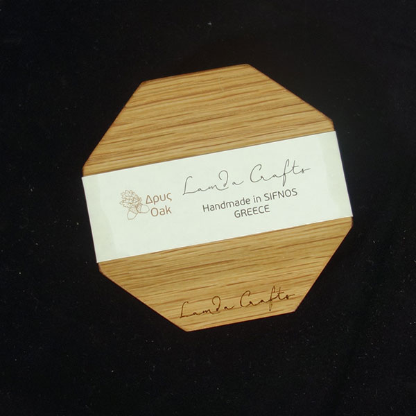 ξύλινο σουβέρ οκτάγωνο σετ 4 τεμάχια