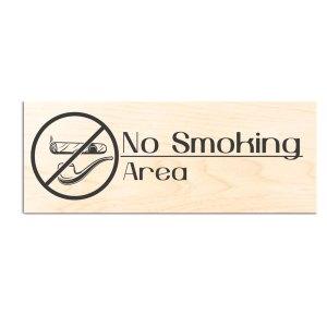 ΞΥΛΙΝΗ ΕΠΙΓΡΑΦΗ NO SMOKING