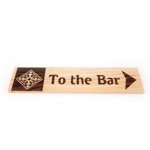 Ξύλινη Επιγραφή Bar