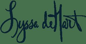 Lyssa deHart signature logo blue