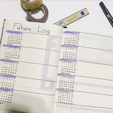 Bullet Journal Future Log Template