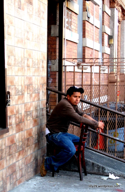 Man sitting in Corner