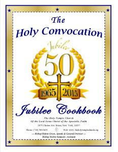 The Holy Convocation Jubilee Cookbook