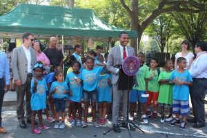 Council Member Ritchie Torres with Mary Mitchell Students