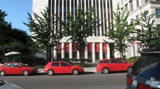 Three Red Cars