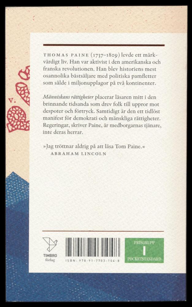 Människans rätt att välja av Thomas Paine