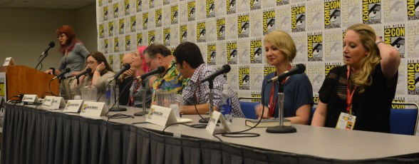 L to R: Hart, Flewelling, Grossman, Taylor, Mayberry, Winters, Cole, and Bardugo