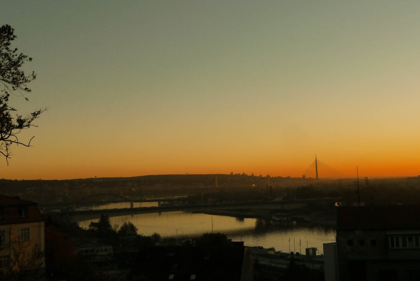 sunset, Belgrade