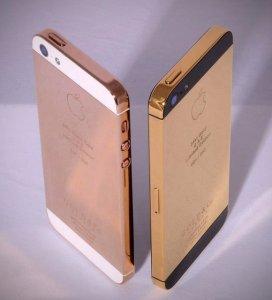 iPhone 5-skal i 24 karat guld.