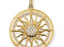 Thomas Sabo sterling silver pendant sun