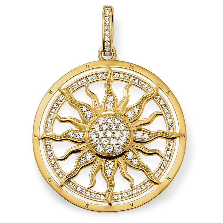 Thomas Sabo sterling silver pendant sun i guld