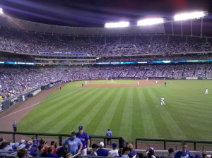 Under the lights at the K.