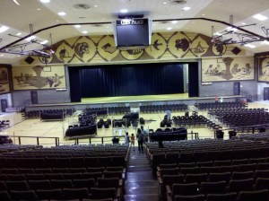 The arena inside the Corn Palace.