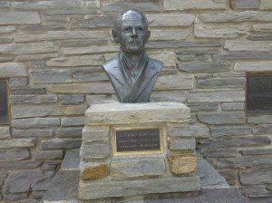 The bust of Gutzon Borgland, the sculptor who created Mount Rushmore, by his son, Lincoln Borgland.