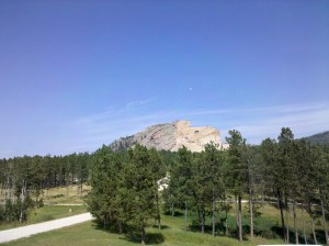 Crazy Horse from a distance of about one mile.