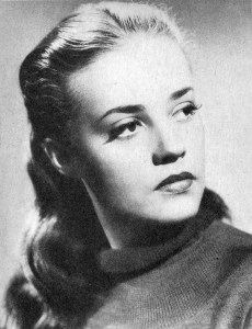 Photo of French actress Jeanne Moreau from a Belgian ladies weekly, 21 February 1957 (Attribution: By jinterwas - Flickr, CC BY 2.0, https://commons.wikimedia.org/w/index.php?curid=46989444)
