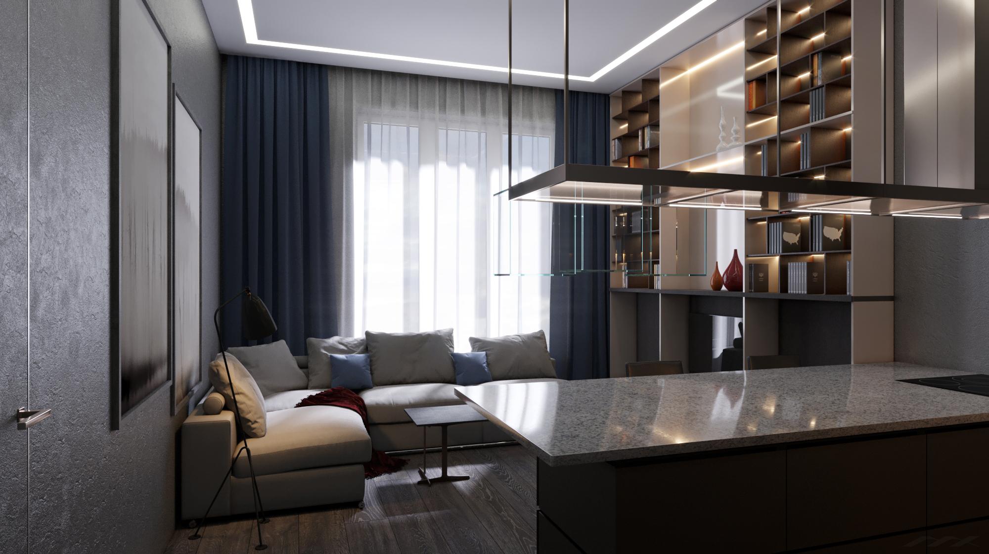 Квартира в современном стиле, кухня