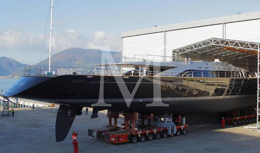 70m Perini Navis Superyacht Sybaris Is Out Of The Shed