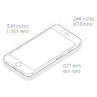 Apple Iphone 6 Size Comparison