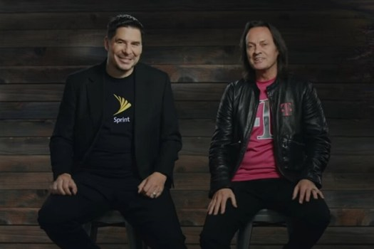 Marcelo Claure (L), John Legere (R) announce the purchase of Sprint by T-Mobile in 2018 - T-Mobile paid John Legere $137 million during his last three months as CEO