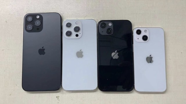 iPhone 13 family dummy units smile for the camera