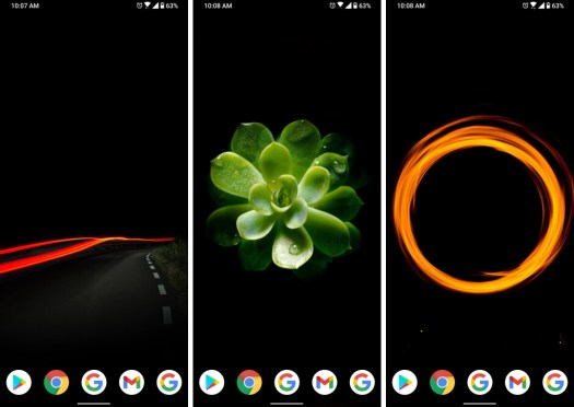 These three wallpapers are linked below - Android Refresh Tuesdays – AMOLED theme