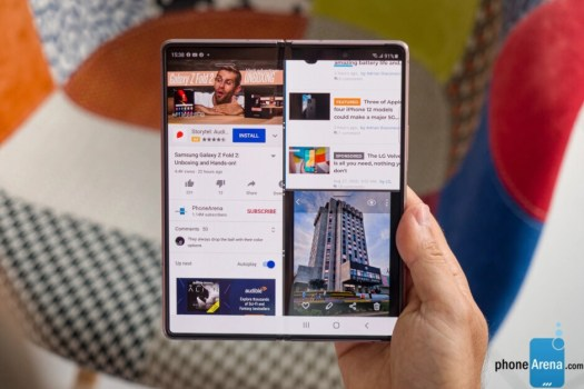 Multitasking on the Pixel Fold might be similar to the Galaxy Z Fold 2 experience (shown here)
