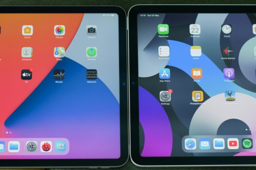 The iPad Air 4 (right) has slightly thicker bezels around the display - iPad Pro 2021 vs iPad Air 4: How much of a difference?