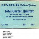 1988 -- May 14 -- John Carter Quintet w/ Bobby Bradford, James Newton, Roberto Miranda, William Jeffrey
