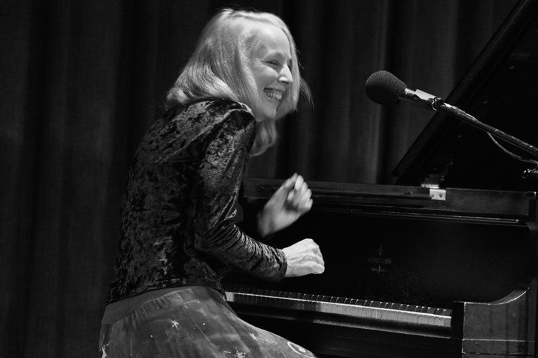 """The second set was mostly solo Kazzrie, because I wanted my New Mexico friends to experience her music  ----  these 3 photos by Jim Gale show Kazzrie after she finished playing Charlie Parker's """"Confirmation"""" in 2nds!"""
