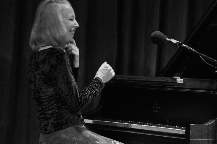"The second set was mostly solo Kazzrie, because I wanted my New Mexico friends to experience her music ---- these 3 photos by Jim Gale show Kazzrie after she finished playing Charlie Parker's ""Confirmation"" in 2nds!"