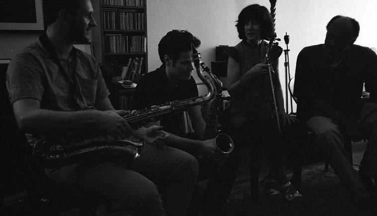 Daro Behroozi, Nick Lyons, Eva Lindal, Daniel Carter -- August 20, 2o14 -- photo by Mark Weber