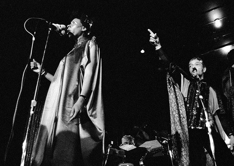 June Tyson and Marshall Allen -- April 2, 1981 -- photo by Mark Weber